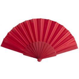 Abanico de Tela y Pvc Presentado En Caja Rojo