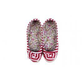 Zapatillas de Esparto lazos Talla-L Rojo