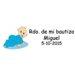 Lote 30 Tarjetas Para Detalle Bautizo Niño Precort
