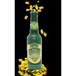 Cañon Confetis Dorado En Forma Botella Cerveza
