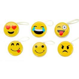 Cajita Metálica Para Auriculares y Monedero Emoji