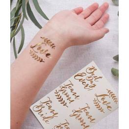 Pack de 6 Tatuajes Temporales Para Bodas