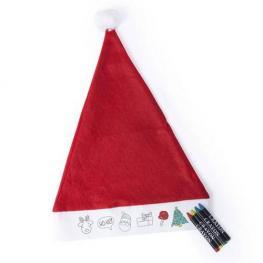 Gorro Papa Noel Niño Para Colorear
