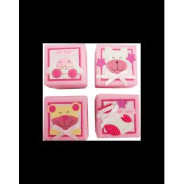 2X1 Set 24 Cajitas Baby Rosa Surtidas