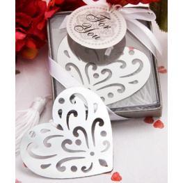 Elegante Punto de Libro Corazón Elegance En Cajita