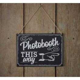 Letrero de Pizarra Photobooth