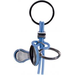 Llavero Forma Chupete Azul En Caja de Regalo