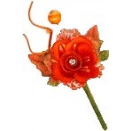 Flor Pic Ramillete New Naranja
