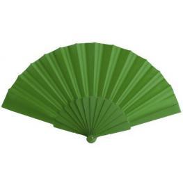 Abanico de Tela y Pvc Presentado En Caja Verde