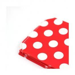 Lote 25 Bolsas Papel Lunares de Regalo Rojo
