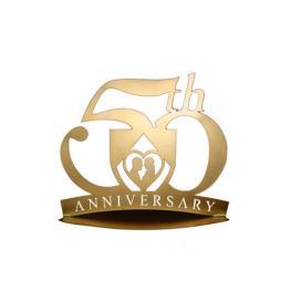 Figura Pastel Metálica  50 Aniversario