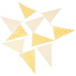 Guirnalda Banderas Decorativas Eventos Papel Amarillo