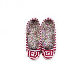 Zapatillas de Esparto lazos Talla-M Rojo
