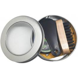 Kit Limpia Calzado En Caja Metálica