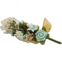 Lote 10 Ramilletes de Flores Pvc Celeste