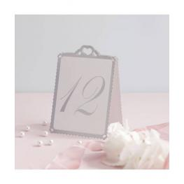 Número de Mesa Corazón Blanco