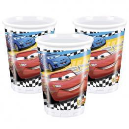 Pack de 8 Vasos de Papel Disney Cars