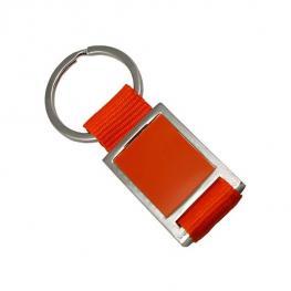Llavero Metalico En Estuche Naranja