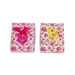 Lote 12 Cajitas Cartón Estampado Floral