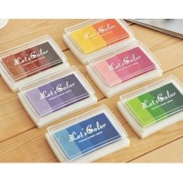 Lote 6 Tintas Multicolor Para Sellos