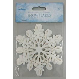 Lote de 10 Estrellas de Nieve Decoración
