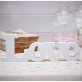 Letras de Madera love Blanco