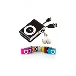 Mp3 Player Clip + Auriculares + Cable Usb En Caja