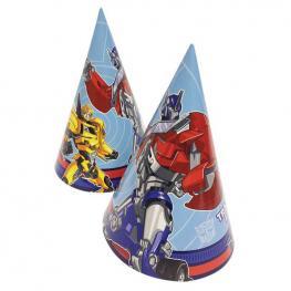 Pack de 8 Gorros de Fiesta Transformers
