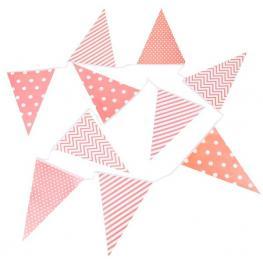 Guirnalda Banderas Decorativas Eventos Papel Rosa