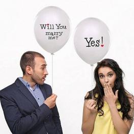 Pack de 6 Globos will You Marry Me?