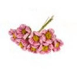 Ramillete Con 8 Flores Decoracion 2.5 Cm Lila