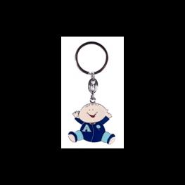 Llavero Happy Baby Azul En Caja de Regalo