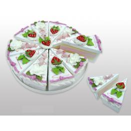 Set 10 Cajas Porción Pastelito + Display Rosa