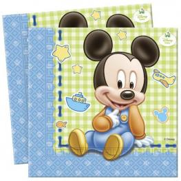 Pack de 20 Servilletas de Papel Bebé Mickey