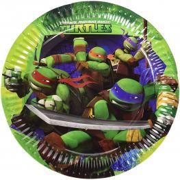 Pack de 8 Platos Tortuga Ninja