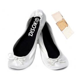 Bailarinas Bodas En Bolsa de Regalo L-Blanco