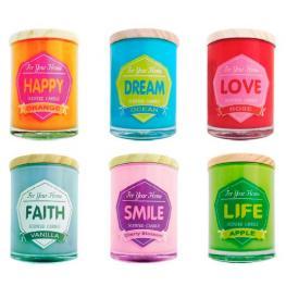 Vela Frase Colores for Home
