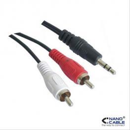 Cable Audio Estereo 3.5/m-2Rca/m 0.3M