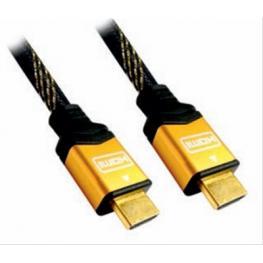 Cable Hdmi V1.4 (Alta Velocidad / Hec) A/m-A/m Oro 5.0M