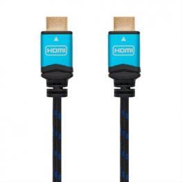 Cable Hdmi V2.0 4K 60Hz 18Gbps, Am-Am, Negro 1.5M Nanocable