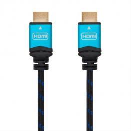 Cable Hdmi V2.0 4K 60Hz 18Gbps, Am-Am, Negro 1M Nanocable