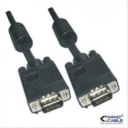 Cable Svga Con Ferrita Hdb15/m-Hdb15/m 1M Nan