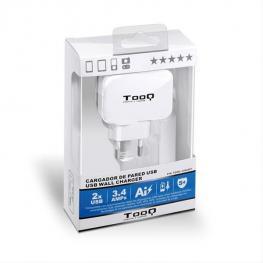 Cargador de Pared 2Xusb Tooq Tqwc-1S02 Blanco