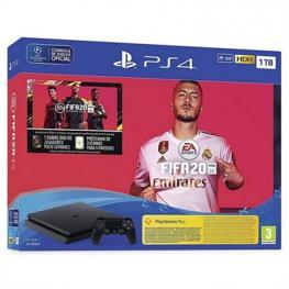 Consola  Sony 9974703 Ps4 1Tb+Fifa 20 +Cupon·
