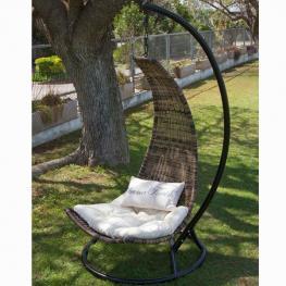 Canasto Balancín Cojín Beige Craftenwood - Mobiliario de Jardín