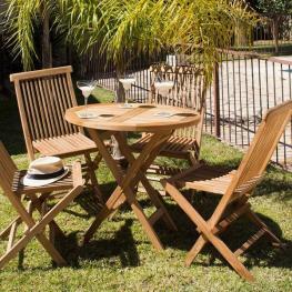 Conjunto de Mesa Con 4 Sillas Craftenwood - Mobiliario de Jardín