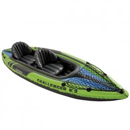 Kayak Challenger K2 C/remos de Aluminio - Piragua Hinchable