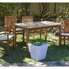 Mesa de Teca Con 4 Sillones By Craftenwood - Mobiliario de Jardín