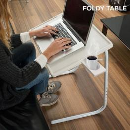 Mesa Plegable Con Posavasos Foldytable - Mobiliario Jardín