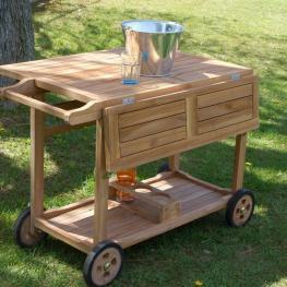 Camarera En Madera de Teca By Craftenwood - Mobiliario de Jardín